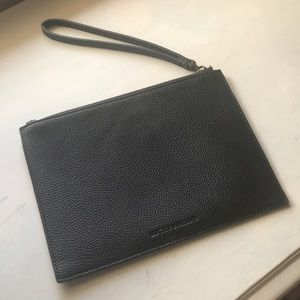Lucky Brand Black Leather Wristlet